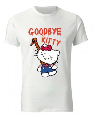 421b05ae46b2 Good bye Kitty - obesená Hello Kitty - UNISEX tričko