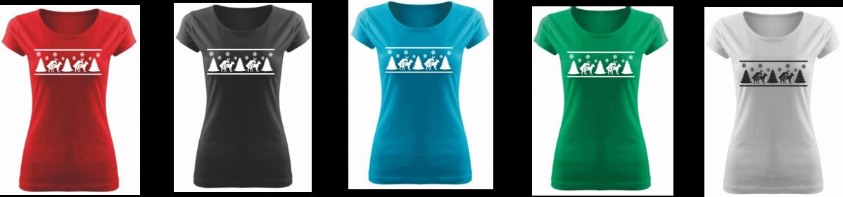 Vtipné tričko s potiskem - Vánoční sobi ǀ Fajntričko.cz 981b33809b