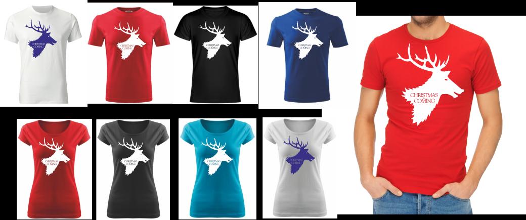 Vtipné a originální vánoční tričko s potiskem Christmas is coming ǀ ... 90ebbcea8d