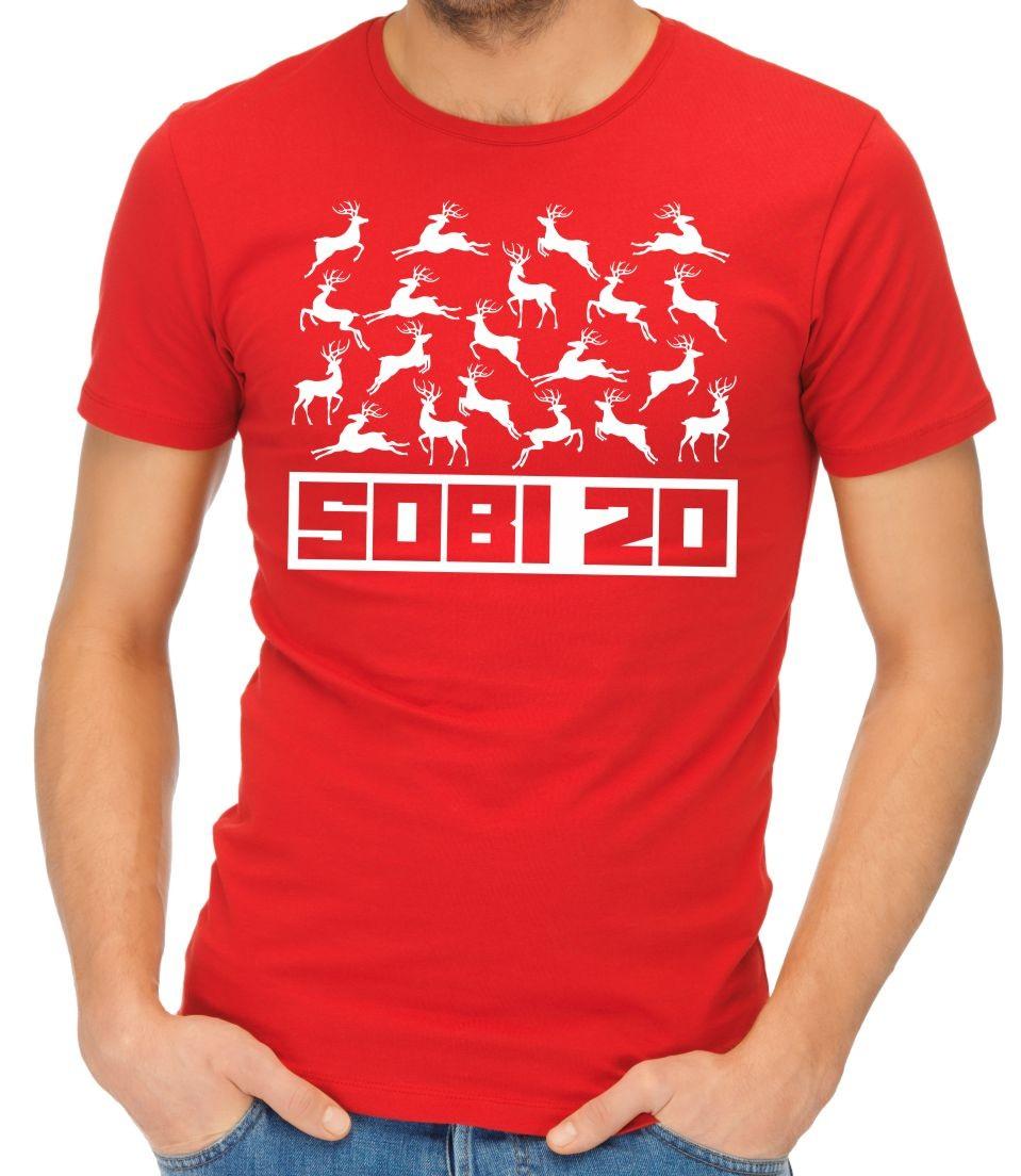 Vtipné a originální vánoční tričko s potiskem SOBI 20 - Vánoční sobi ... 6d621cdcd9
