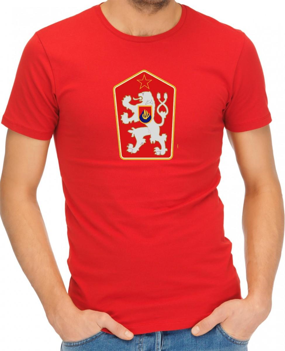 Tričko - ČSSR znak - retro československé tričko Fajntričko.cz 292aa6862ac