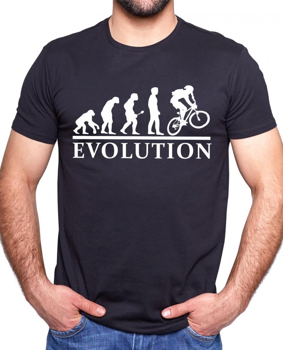 d973ab06e8c3 Vtipné tričko s potiskem Kolo evoluce ǀ Fajntričko.cz