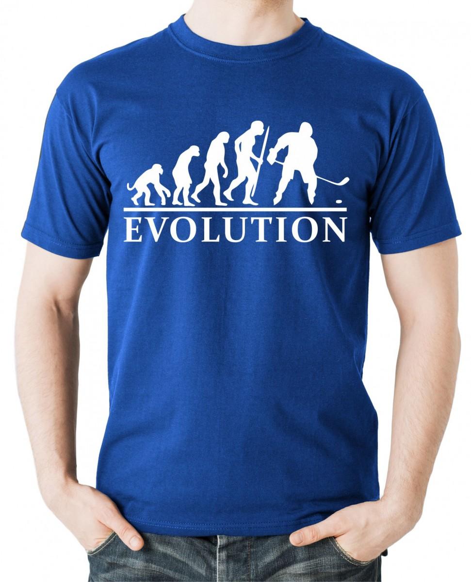 1824dd897f6 Vtipné tričko s potiskem Hokej Evoluce ǀ Fajntričko.cz