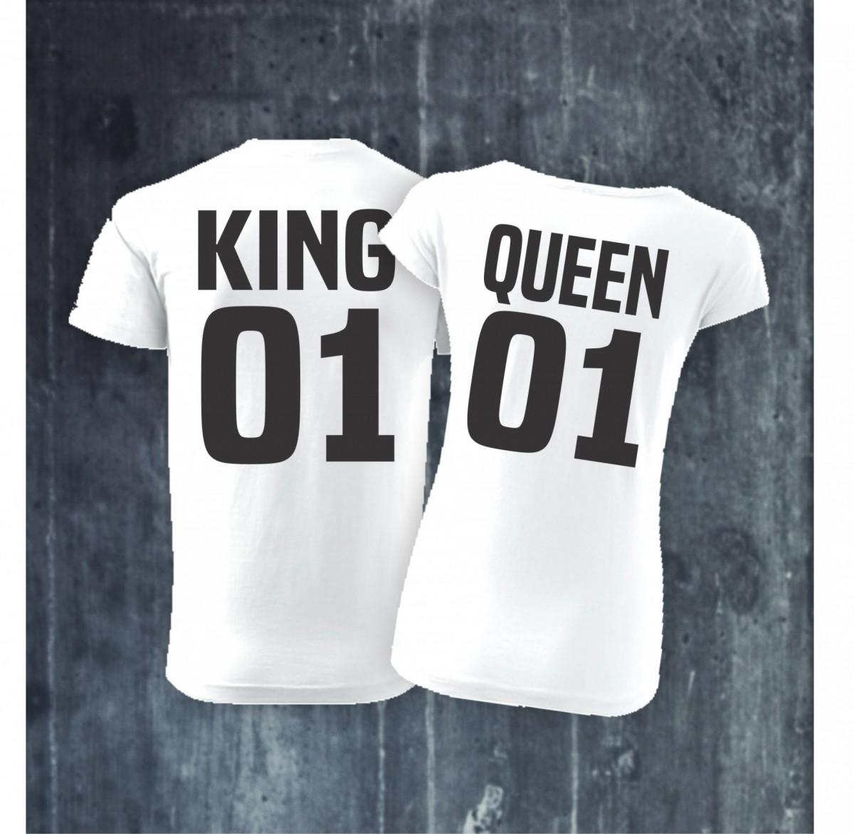 Pánské   dámské tričko KING 01 - QUEEN 01 ǀ Fajntričko.cz c9e0a106c6