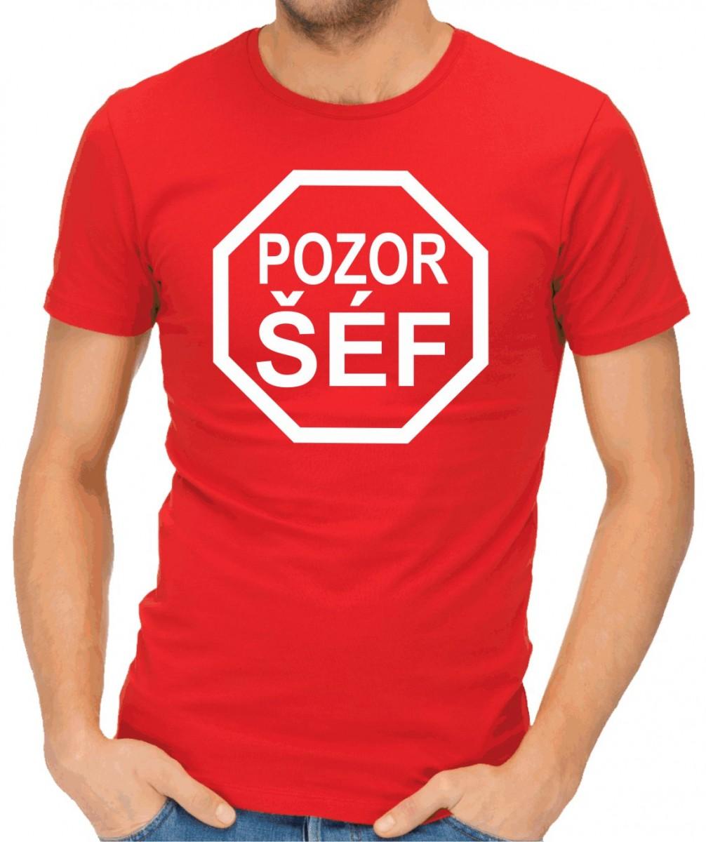 Tričko - Pozor šéf - darek pro sefa ǀ Fajntričko.cz f3dc4390e6