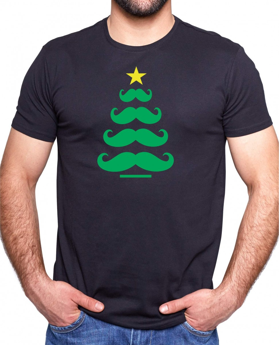 Tričko - Vousatý vánoční stromek ǀ Fajntričko.cz 971fdbd4d1