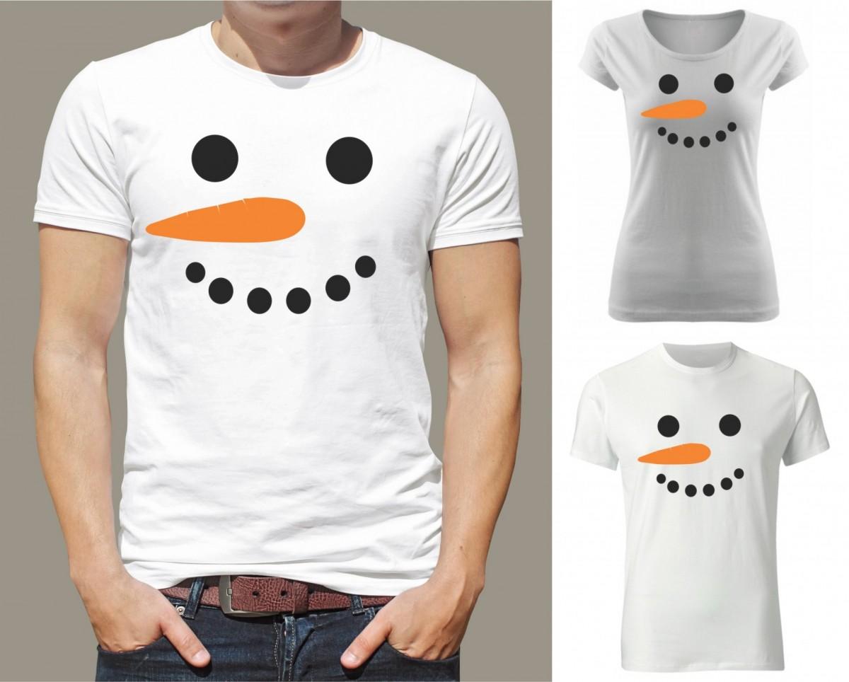 Vtipné a originální vánoční tričko s potiskem Sněhulák ǀ Fajntričko.cz da61243d67