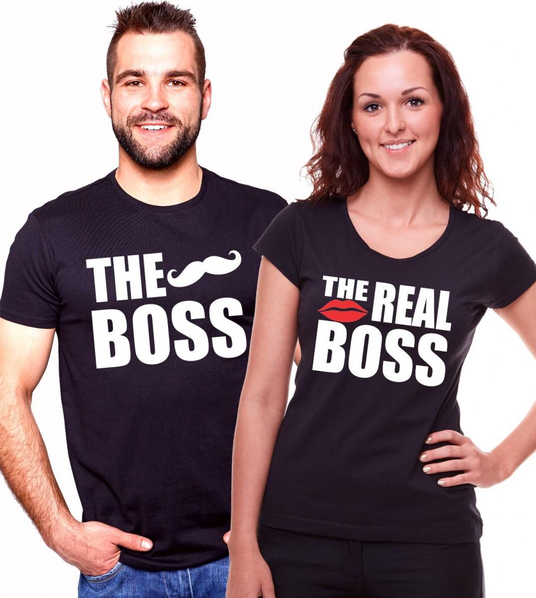 05c167ab5fcf Trička pro páry - The Boss The Real Boss valentínska trička ...
