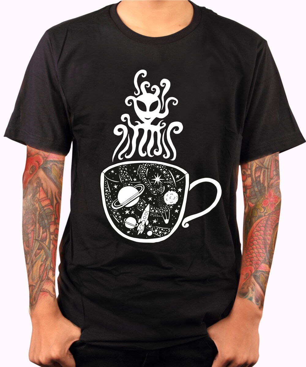 3a2ee7af21d Tričko - Magic black coffee - barista (Pecka)