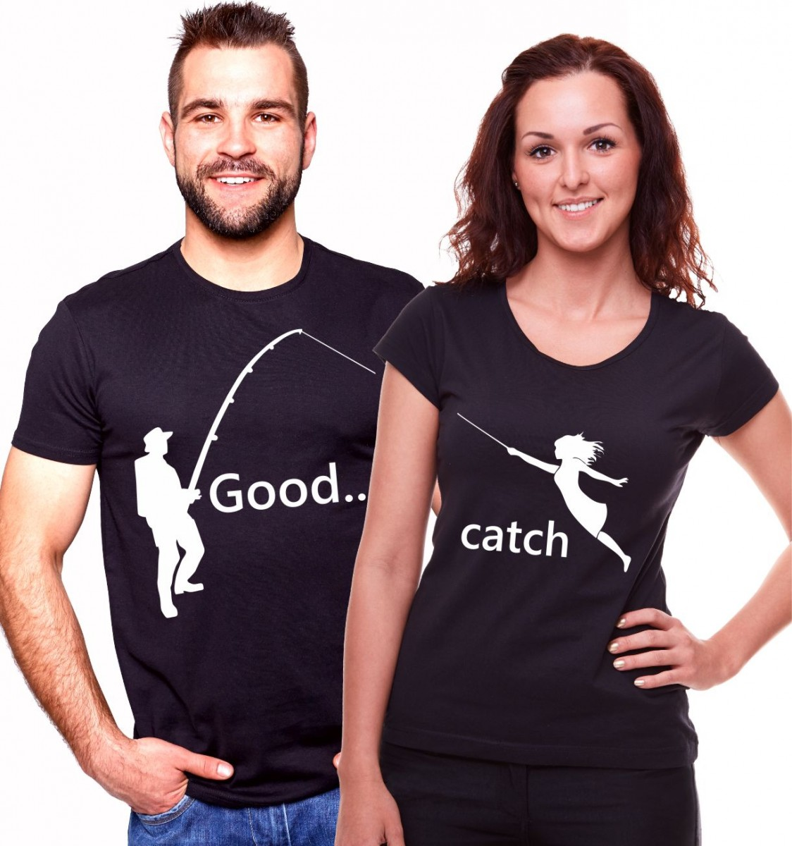 3fd00a2d08c4 Partnerská trička - dobrý úlovek - originální svatební dar ǀ ...
