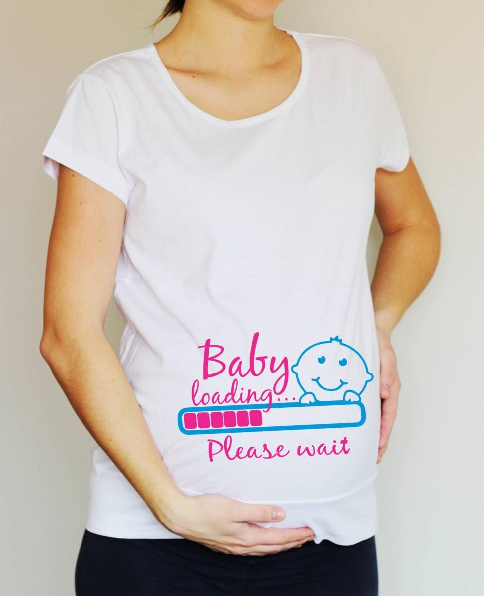18956c54631a Těhotenské tričko - pro těhotné - Baby loading...