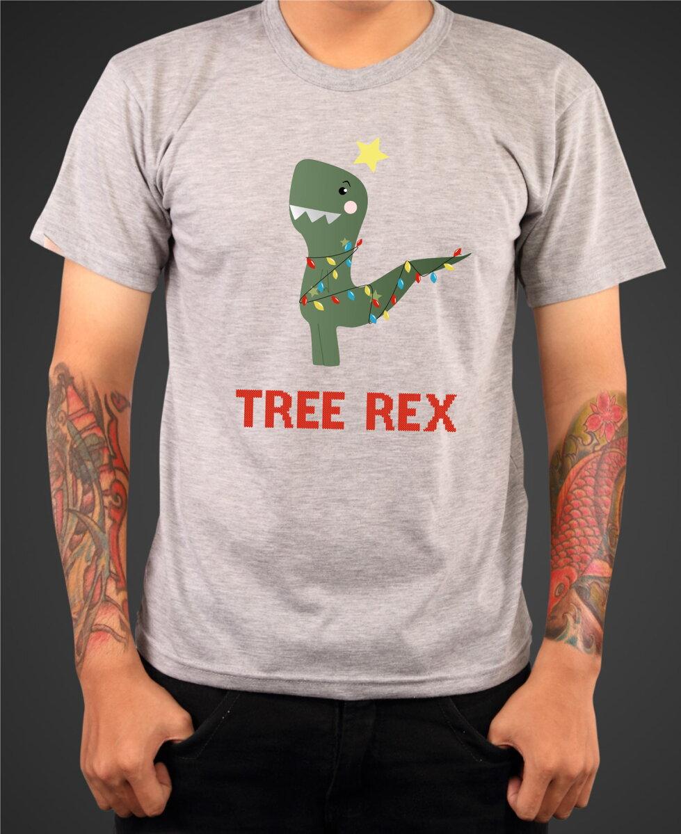 Vtipné a originální vánoční tričko s potiskem Tree Rex ǀ Fajntričko.cz 567714e797