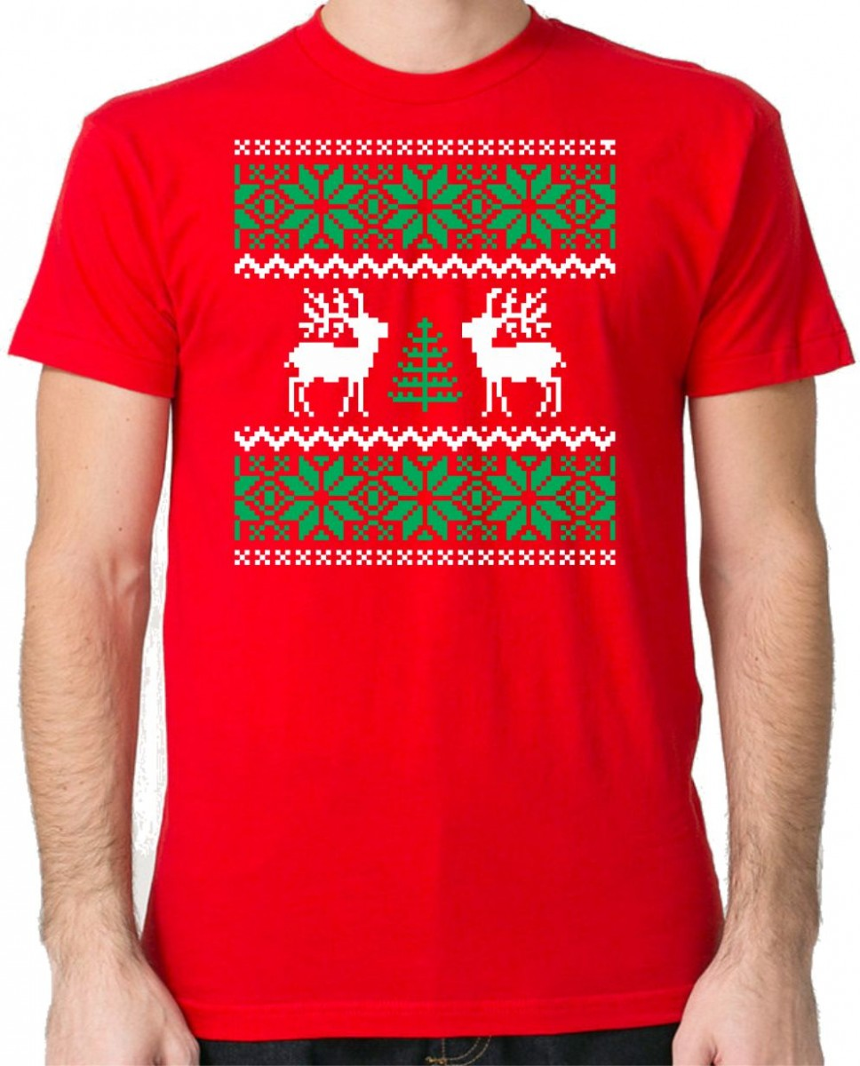 Vipné Vánoční tričko - Vánoční vzor. ǀ Fajntričko.cz 9ee71280d6