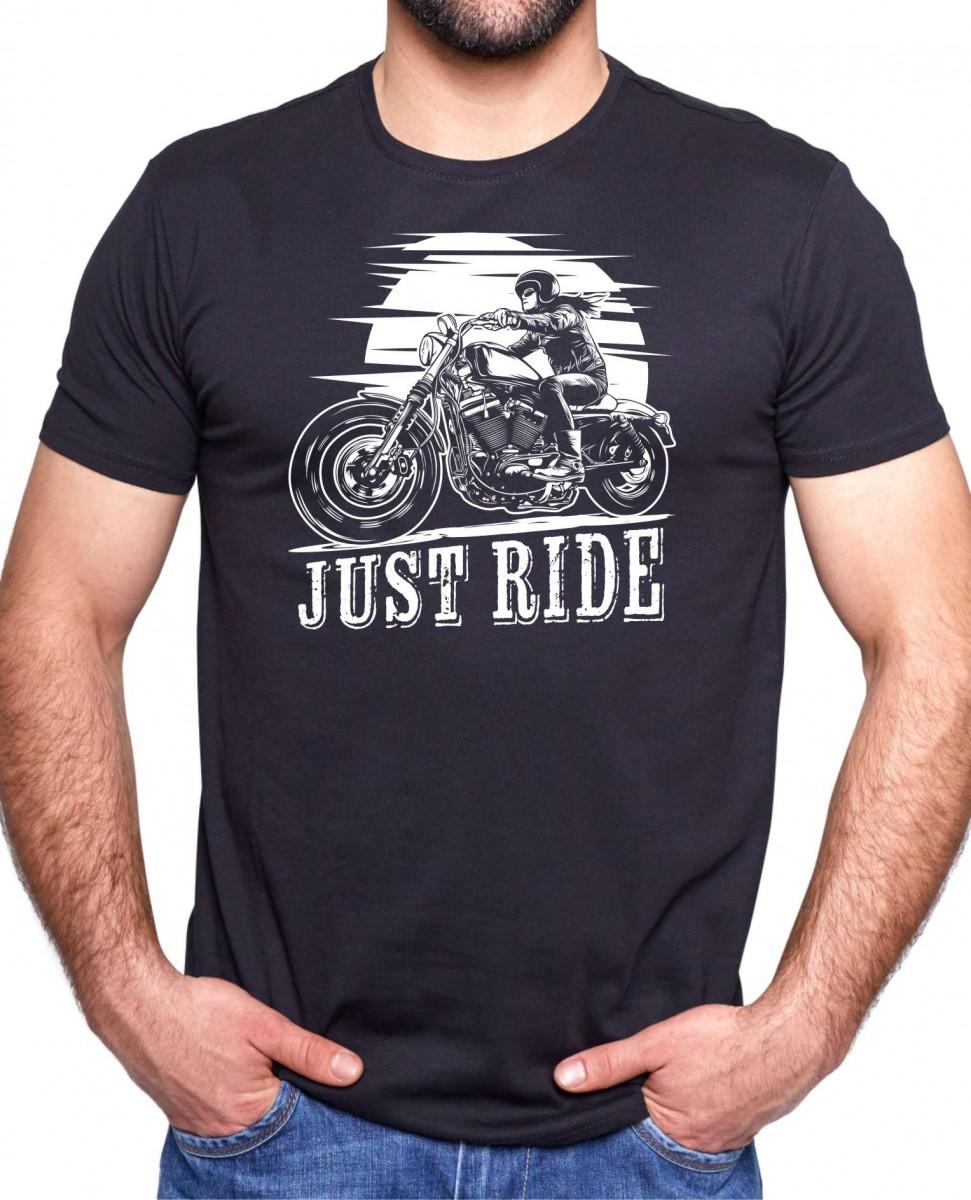 Motorkářské tričko s potiskem - Just ride ǀ Fajntričko.cz d531cd5c1a