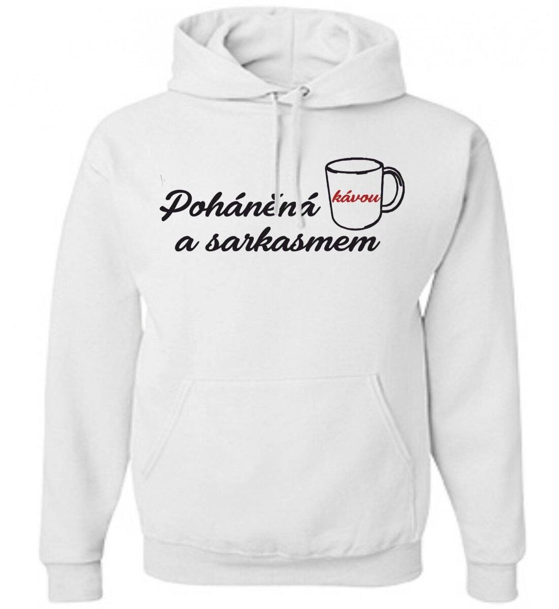 133be9015 Mikina-Poháněná kávou a sarkasmem ǀ Fajntričko.cz