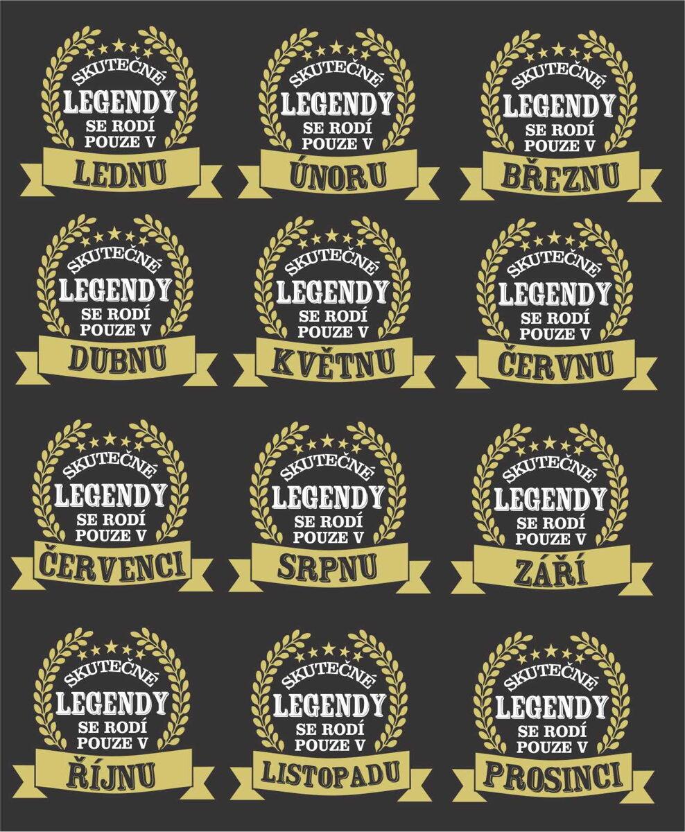 36957acd372 Narozeninové tričko -Skutečné LEGENDY se rodí pouze v ... (zvolte ...