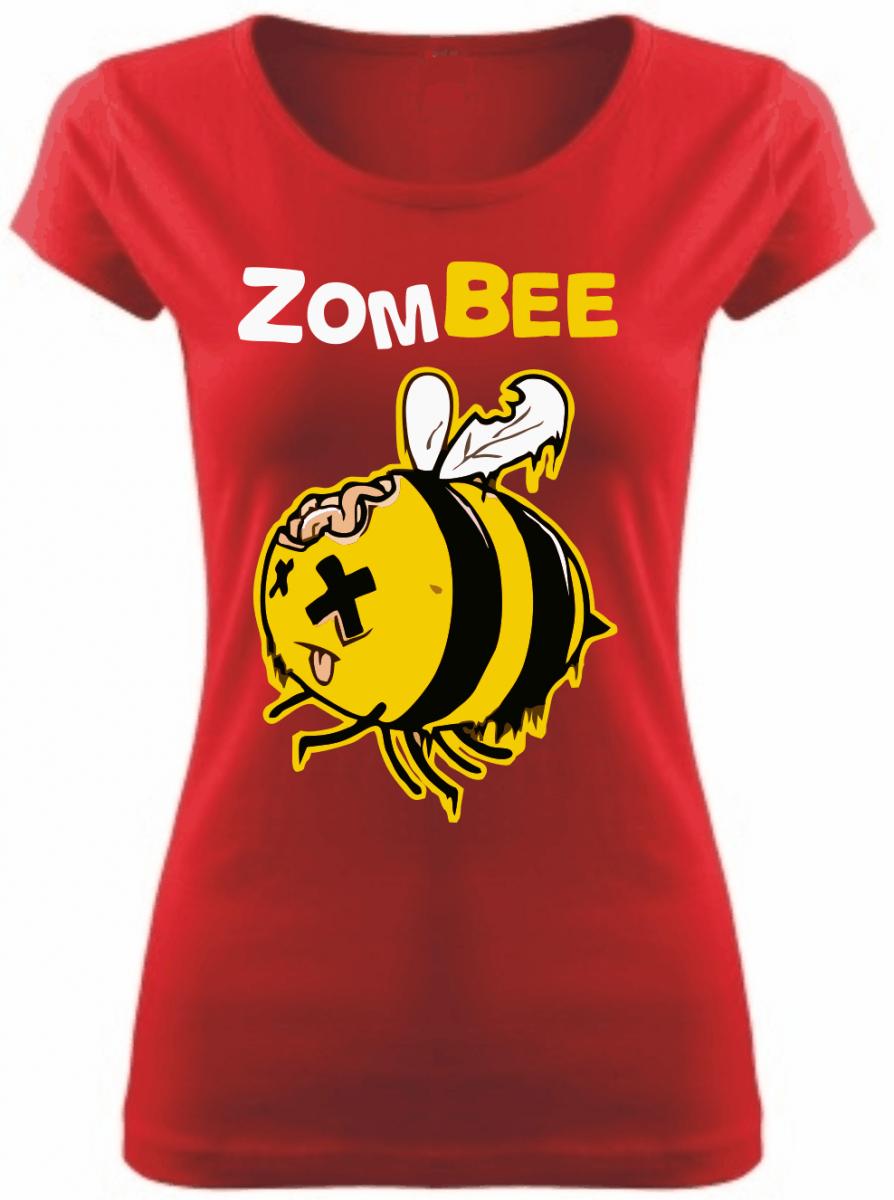 Dámské tričko - zombee - Zombie včela-levné vtipné tričko ... ffb41fa3b3