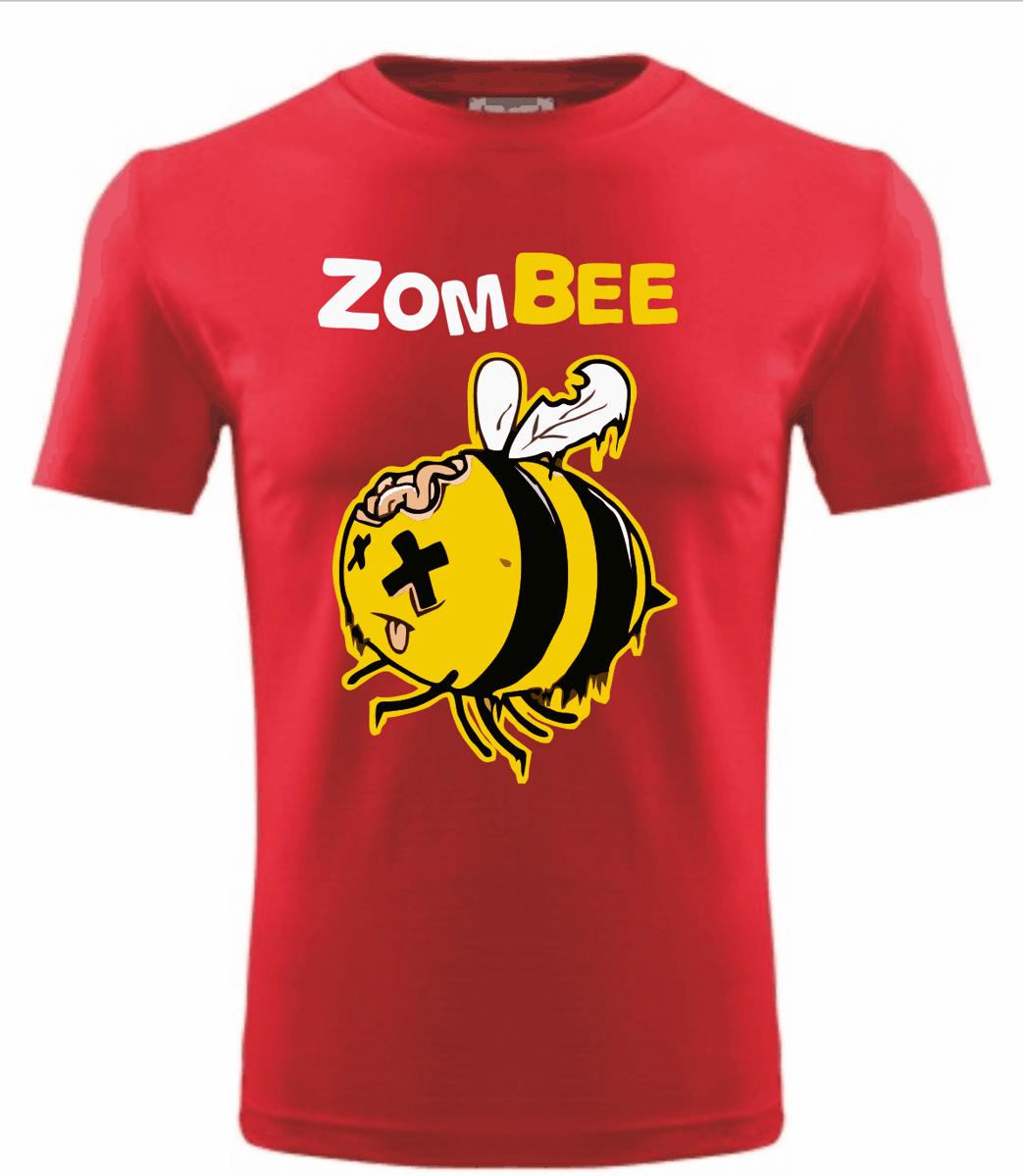 Tričko - zombee - Zombie včela-levné vtipné tričko  e12336c491