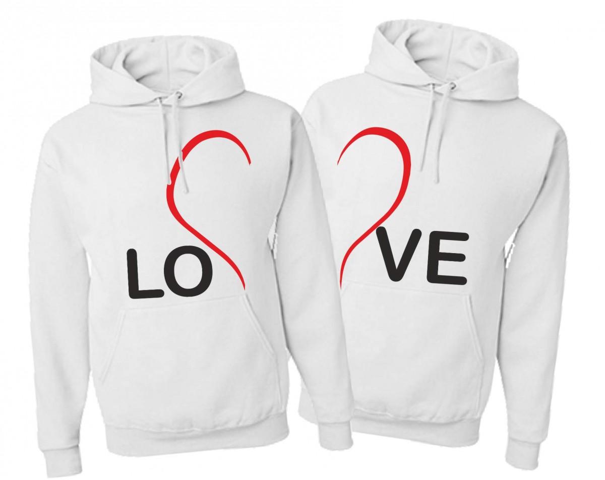 81cdf3a62 Originální partnerská: dámská / pánská mikina LOVE - láska ...