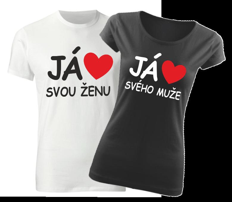 43b08ca70231 Já miluji svou ženu   tričko já miluji svého muže - Valentýnský ...