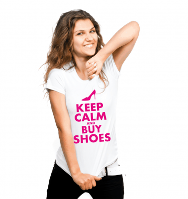 Tričko - Keep calm and buy shoes (dámske)