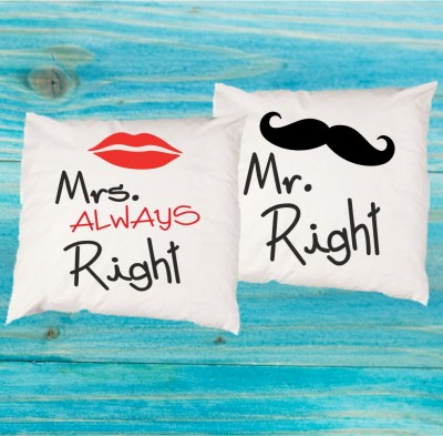 Sada 2ks povlečení na polštář - Mr. Right - Mrs. always right