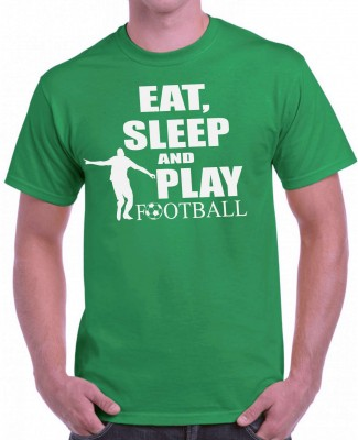 Tričko - Eat, sleep and play football
