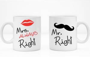 Sada: 2 hrnky Mr. Right / Mrs. always right