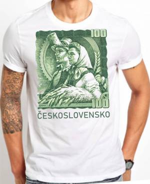d801e3c2846 Tričko - Československo 100Kčs