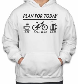 Cyklo mikina - Plan for today