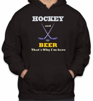 Mikina - Hockey and Beer, that's why i'm here