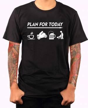 2bc649fd468b Motorkářské tričko - Plan for today