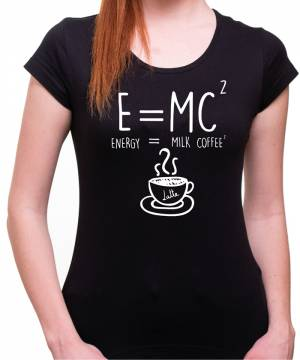 Tričko coffee - E=mc²