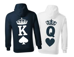 Partnerské mikiny - K a Q (King and Queen) (cena za 1ks)