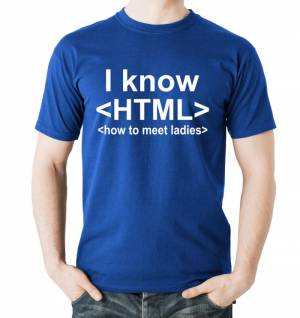 Tričko I know HTML