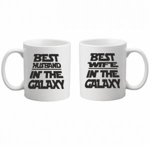 Sada: 2 hrnky - The best husband/wife in the galaxy