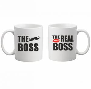 Sada: 2 hrnky - The Boss/The Real Boss