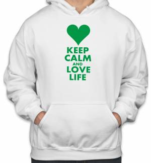 Mikina KEEP CALM AND LOVE LIFE