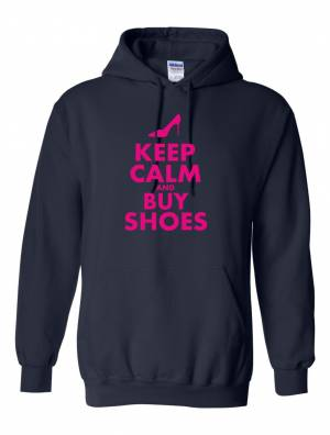 Mikina-Keep calm and buy shoes (dámska)